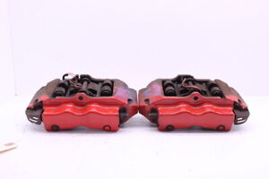 2004 2010 Porsche Cayenne Turbo Rear Brake Caliper Pair Red Brembo 95535242170