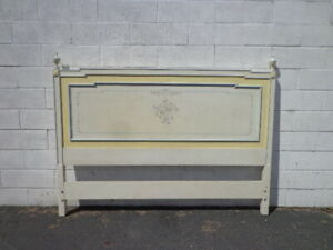 Vintage Headboard French Provincial Bed Queen Size Bedroom Neoclassical Regency