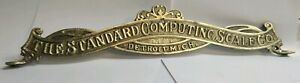 The Standard Computing Scale Co Detroit Mich Double Sided Brass Topper