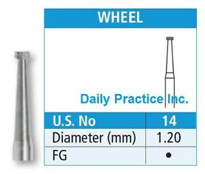 Johnson promident Dental Carbide Burs Fg 14 Wheel Select Quantity