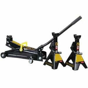 Brand New 4500 Floor Pump Jack With Stands Garage Car Truck Easy Carry