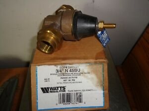 Watts Water Pressure Reducing Valve Model N45bu 3 4 In New