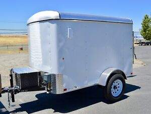 Refrigerated Mobile Catering Cold Trailer Food Flowers And Ice Transportation