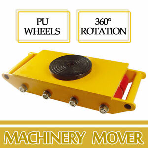 Strongway Duty Machinery Mover With 360deg Rotation 12 ton 26400lb 8 Rollers