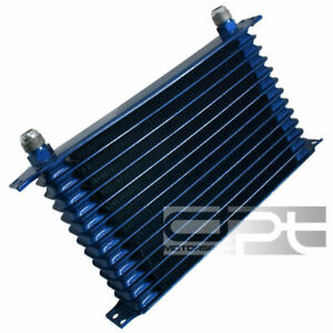 12 Row Engine Transmission Racing 10 An Blue Aluminum Powder Coated Oil Cooler