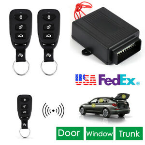 Car Alarm System Security 2 Remotes Keyless Entry Remotely Lock Trunk Release