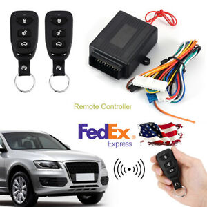 Keyless Remote Entry System Kit Remotely Lock Trunk Release Rising Window Car