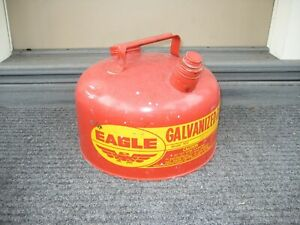 Old Eagle 2 1 2 Gallon Galvanized Metal Boat Engine Gas Gasoline Can Fuel Tank