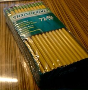 Ticonderoga Wood cased 2 Hb Pencils box Of 72 Yellow