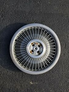 1 Thunderbird Vintage Classic Ford 15 Inch Wire Spoke Hubcaps Wheel Cover 1989