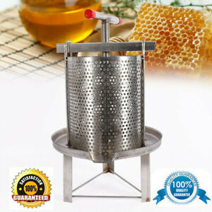 Household Manual Honey Press Stainless Steel Wax Machine Beekeeping Agriculture