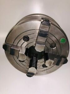 8 Inch 4 jaw Lathe Chuck Independent Reversible With D1 4 Back Plate Great Cond