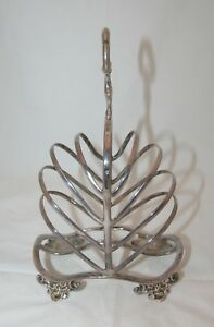 Antique Victorian Silver Plate 10 Slice Toast Rack Martin Hall