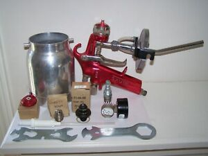 Vintage Binks Model Bbr Spray Gun And Tips And Tools