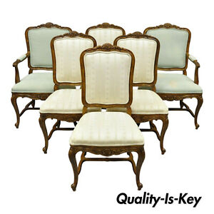 6 Drexel Heritage Old Continent French Provincial Louis Xv Style Dining Chairs