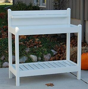 Potting Bench Outdoor Garden Work Table Station Plant Maintenance Free Resin