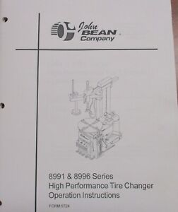 Used John Bean 8991 8996 Tire Changer Operating Instructions
