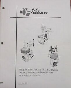 Used John Bean 8950 8960 8990 Tire Changer Parts Manual