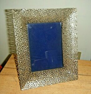 Gorgeous Vintage 1960s 11 Large Sterling Lace Filigree Picture Frame 800 Italy