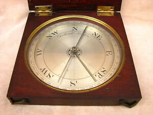 Large Early 19th Century Dollond Mahogany Cased Surveyors Compass