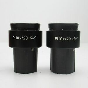 Carl Zeiss Pl 10x 20 30mm Focusable Eyepiece Pair W Retaining Screws 44 40 32