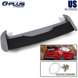 Rear Roof Wings Spoiler For 2013 up Ford Focus St Hatchback Rs Style