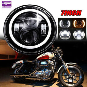 7inch Headlight Led Halo Angel Eye Fit Harley Electra street Glide road King