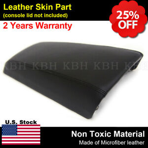 Fits 11 17 Ford Edge Synthetic Leather Center Console Lid Armrest Cover Black