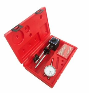 Dial Indicator With Magnetic Base With 22 Point Set 0 1 Range
