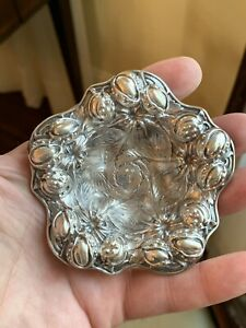 Rare Art Nouveau Sterling Silver Nut Bowl Kerr 1 Of 6 Perfect