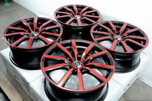 18 Red Wheels Fits Accord Mazda 3 6 Is250 Optima Rsx Civic Mustang Forte Tl Rims