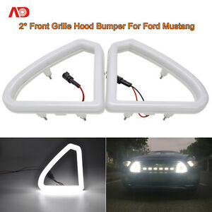 For 2015 17 Ford Mustang Led Front Grille Mount Accent Daytime Running Light 2x