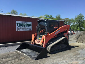 2014 Kubota Svl90 2 Compact Track Skid Steer Loader W Cab Joystick High Flow