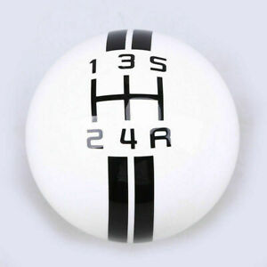 For Ford Mustang Gt500 5 6 Speed Manual Gear Shift Knob Shifter White Image Ball