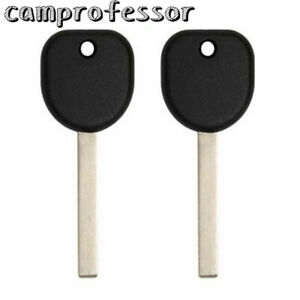 2 Replacement New Keyless Transponder Ignition Key For Chevy Gmc B119 Pt B116 Pt