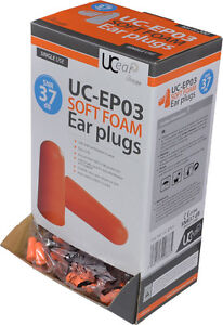 Uc ep03 Standard Pu Foam Ear Plugs Dispnser Box Of 200 snr37 Noise Protection