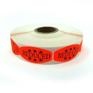 Reduced Price Store Stickers Orange Self adhesive Retail Merchandise Labels
