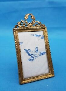 Antique French Small Bronze Picture Frame Louis 16 Style Circa 1900