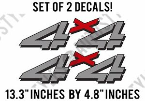 1999 2006 Chevy Silverado 4x4 Decal Vinyl Stickers Bed Side F 1500 2500