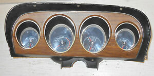 1969 Mustang Mach 1 Boss Grande Orig Deluxe Decor Wood Grain Dash Gauge Cluster