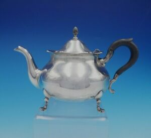 Richard Dimes Sterling Silver Wood Tea Pot 144 J Shepard Reproduction 3321