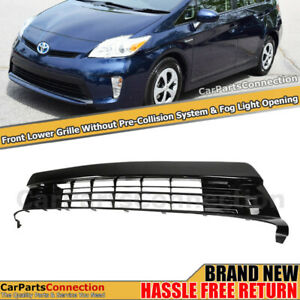 Front Bumper Grille For Toyota Prius 12 15 Without Pcs Lower Grill Trim Airflow