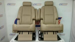 10 Gmc Yukon Denali Rear Second Row Bucket Seat Set Tan Leather
