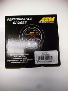 Aem X Series Oil Fuel Pressure Gauge 0 100 Psi Black Black 30 0301