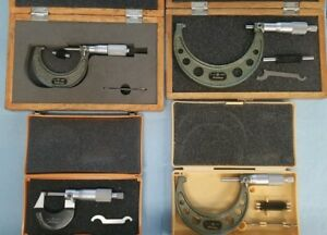Mitutoyo Outside Micrometer Set 0 To 4 0 Resolution 0001