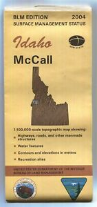Usgs Blm Edition Topographic Map Idaho Mccall 2004 Surface