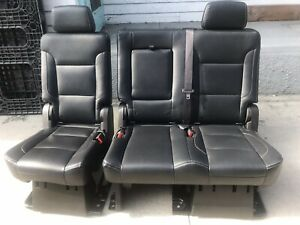 2016 2017 2018 Chevy Gmc Suburban Yukon Rear Bench Seats In Black Leather Seat