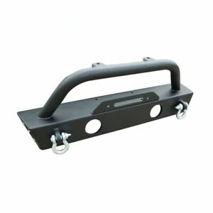 Stubby Unlimited Front Bumper W D Rings For 2007 2017 Jeep Wrangler Rubicon Jk