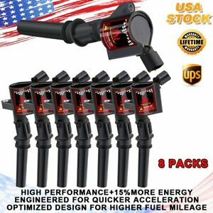 For Ford F150 Expedition 5 4l 6 8l 2000 2001 2002 2004 Dg508 Ignition Coil 8pack