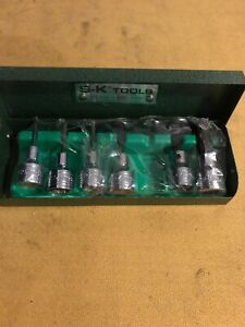 Sk S k 6 Pc Hex Bit Socket Set Metric 2mm 2 5mm 3mm 4mm 6mm 8mm Usa 3 8 Dr